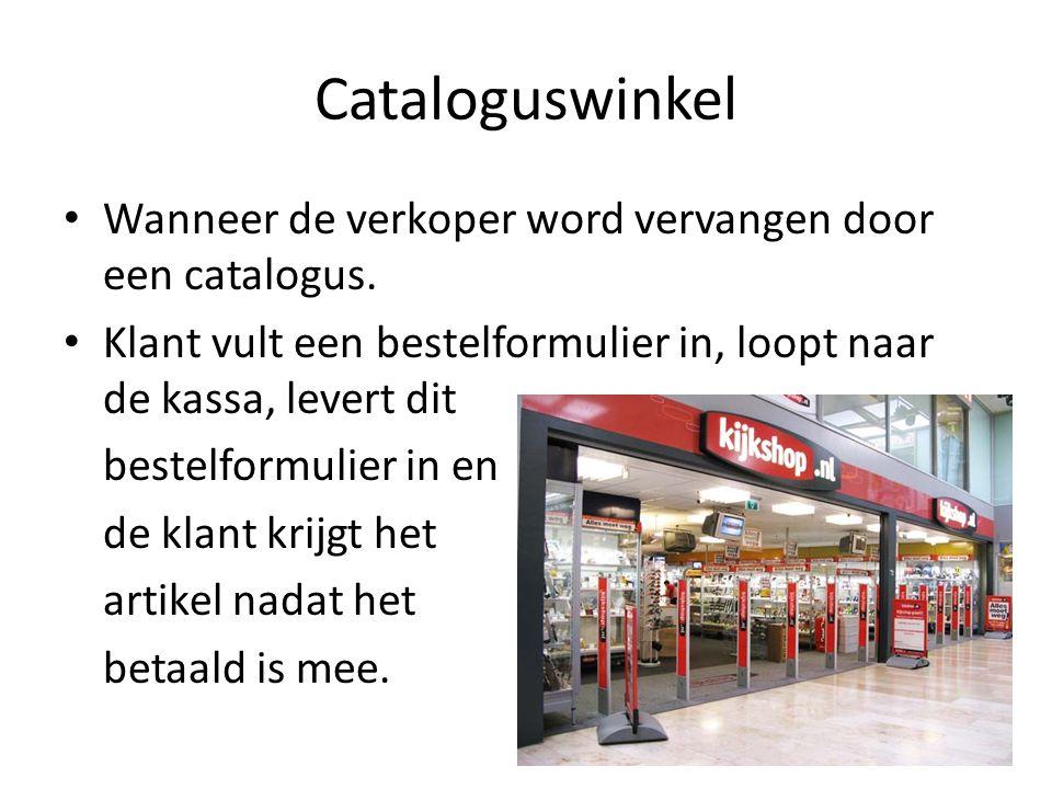 Cataloguswinkel Wanneer de verkoper word vervangen door een catalogus.