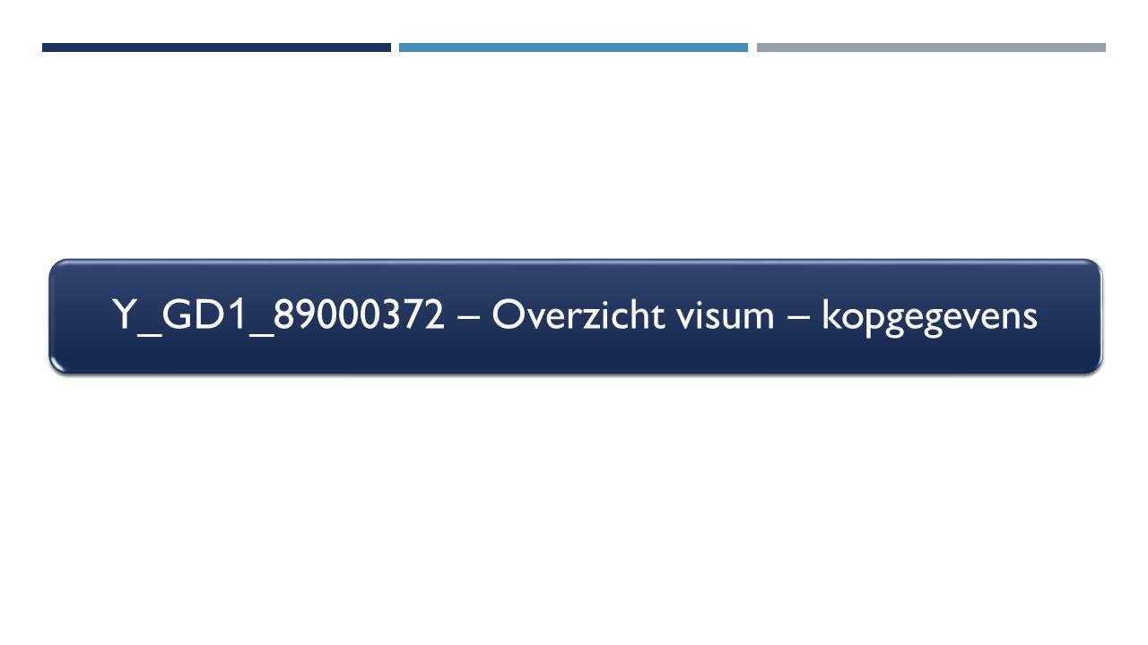 Y_GD 1 _89000372 – Overzicht visum – kopgegevens
