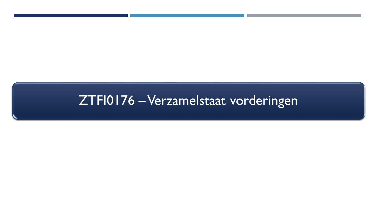 ZTFI0176 – Verzamelstaat vorderingen