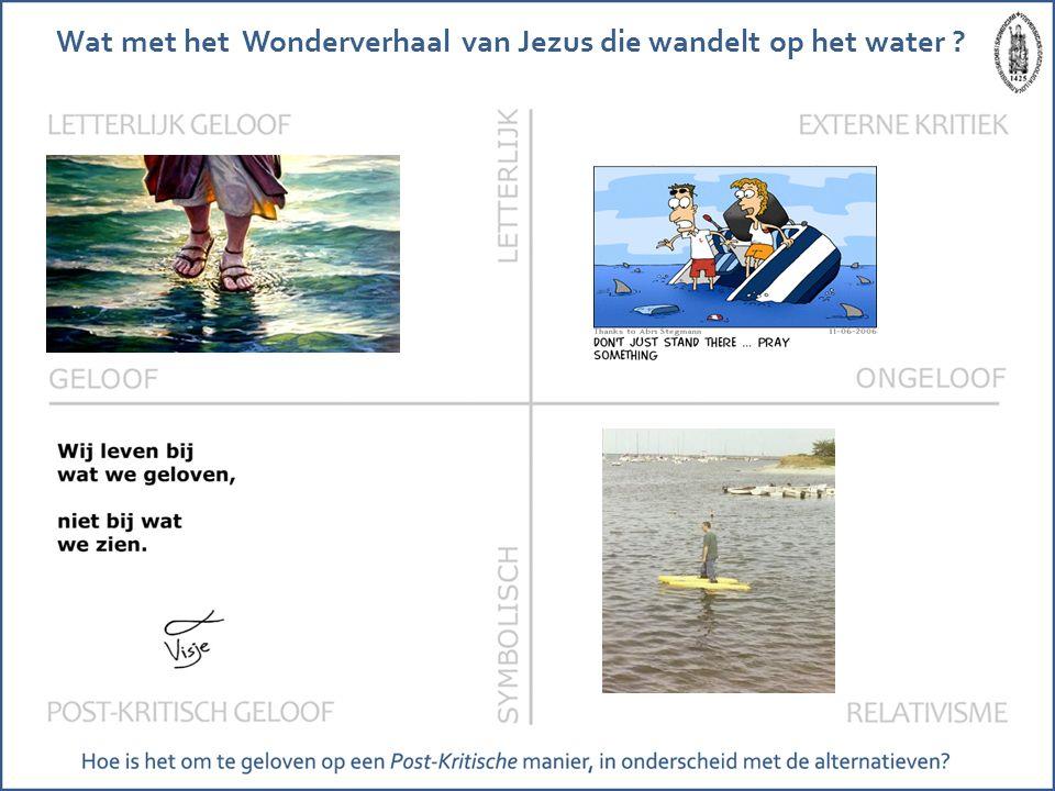 Wat met het Wonderverhaal van Jezus die wandelt op het water ?