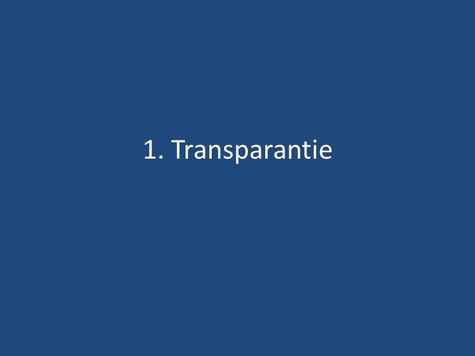 1. Transparantie