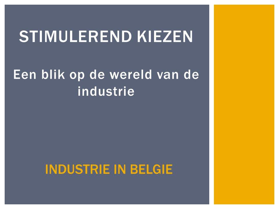 STIMULEREND KIEZEN Een blik op de wereld van de industrie INDUSTRIE IN BELGIE