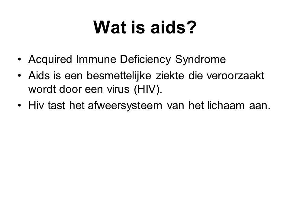 Hoe wordt je besmet met het Aids-virus.