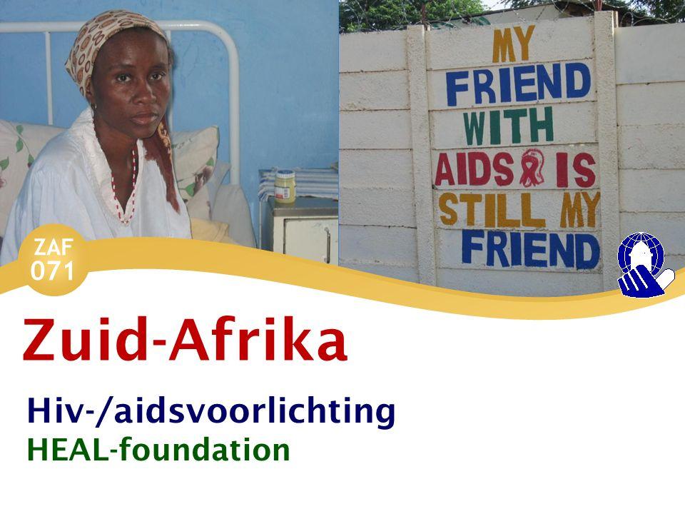 ZAF 071 Slachtoffer Bij aids denken wij misschien: eigen schuld.