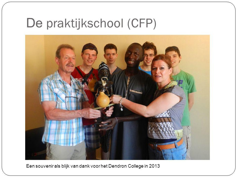 De praktijkschool (CFP) Een souvenir als blijk van dank voor het Dendron College in 2013
