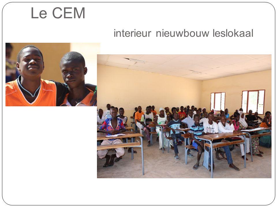 Le CEM interieur nieuwbouw leslokaal.