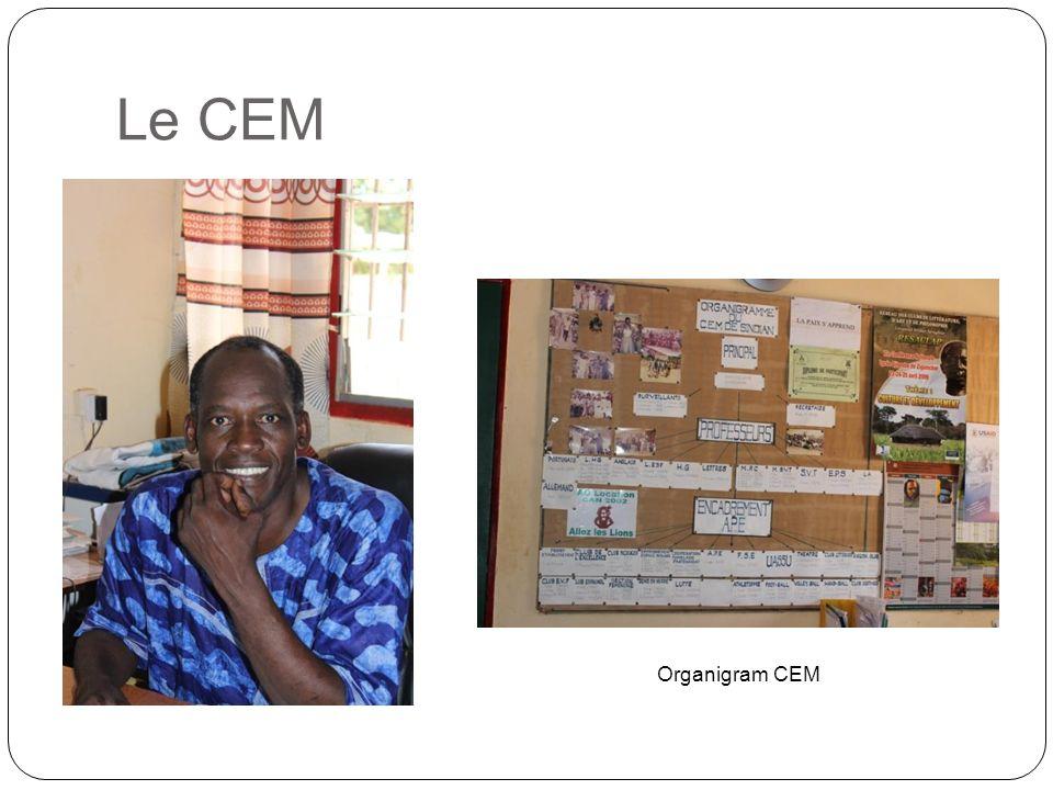 Le CEM Organigram CEM