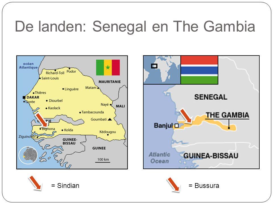De landen: Senegal en The Gambia = Sindian = Bussura