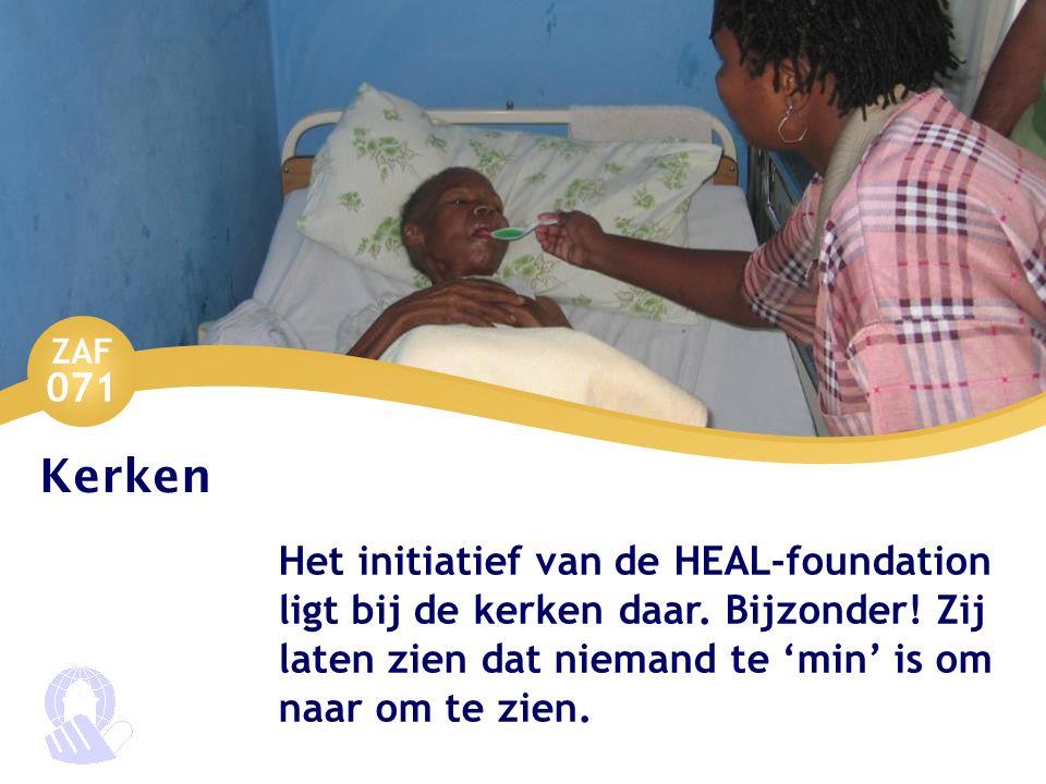 ZAF 071 Kerken Het initiatief van de HEAL-foundation ligt bij de kerken daar. Bijzonder! Zij laten zien dat niemand te 'min' is om naar om te zien.