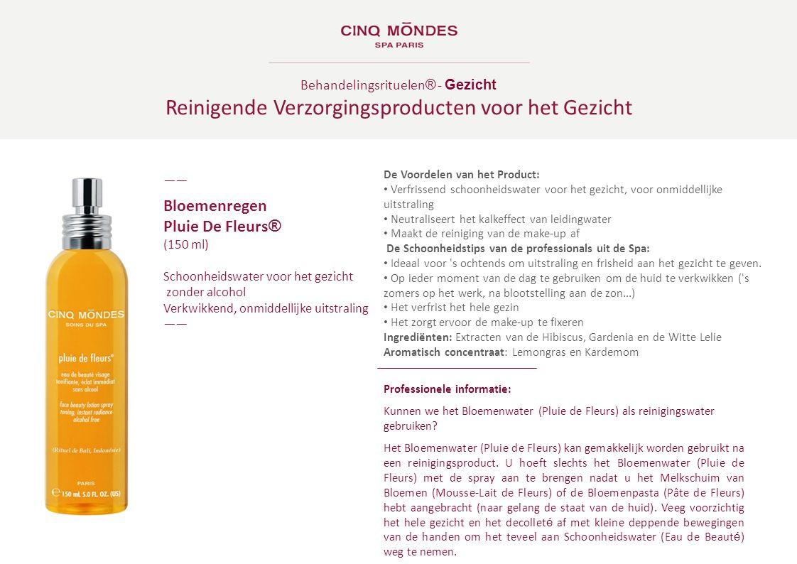 Behandelingsrituelen ® - Gezicht Reinigende Verzorgingsproducten voor het Gezicht ―― Bloemenregen Pluie De Fleurs ® (150 ml) Schoonheidswater voor het