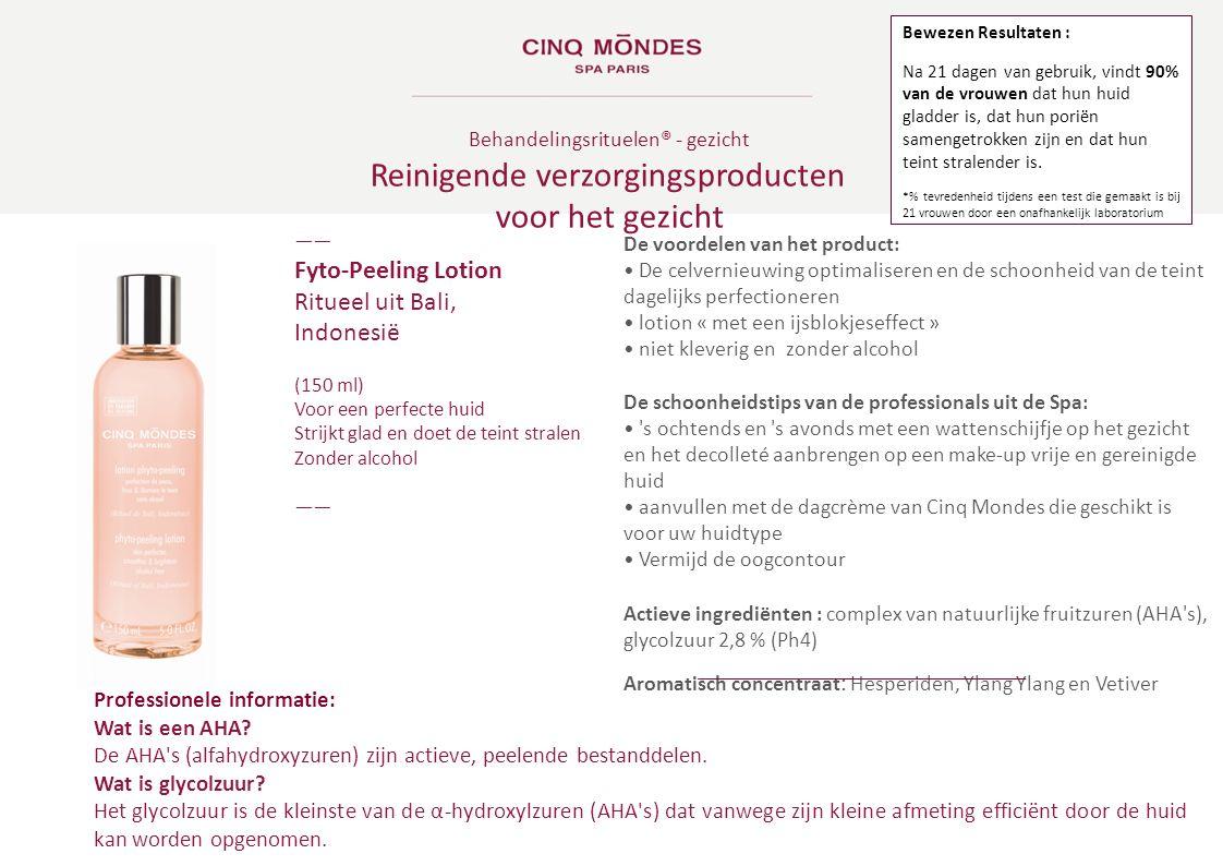 Behandelingsrituelen ® - gezicht Reinigende verzorgingsproducten voor het gezicht ―― Fyto-Peeling Lotion Ritueel uit Bali, Indonesië (150 ml) Voor een