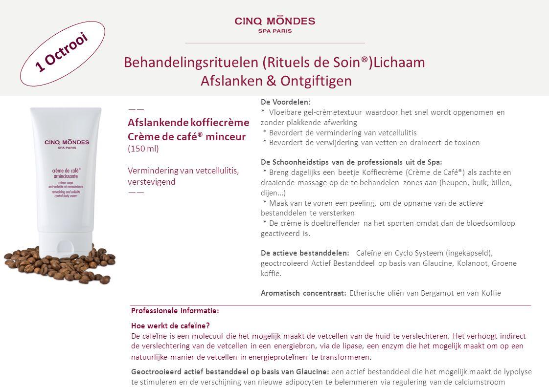 Behandelingsrituelen (Rituels de Soin®)Lichaam Afslanken & Ontgiftigen ―― Afslankende koffiecrème Crème de café® minceur (150 ml) Vermindering van vet