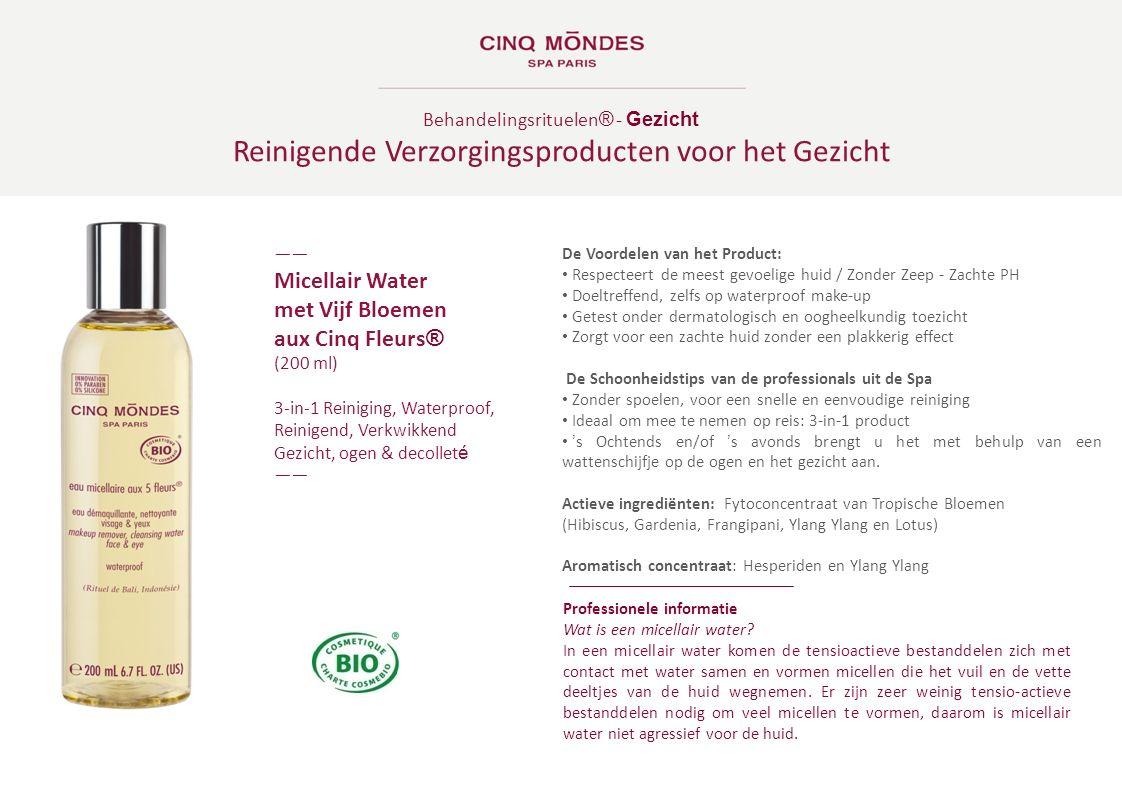 Behandelingsrituelen ® - Gezicht Reinigende Verzorgingsproducten voor het Gezicht ―― Micellair Water met Vijf Bloemen aux Cinq Fleurs ® (200 ml) 3-in-