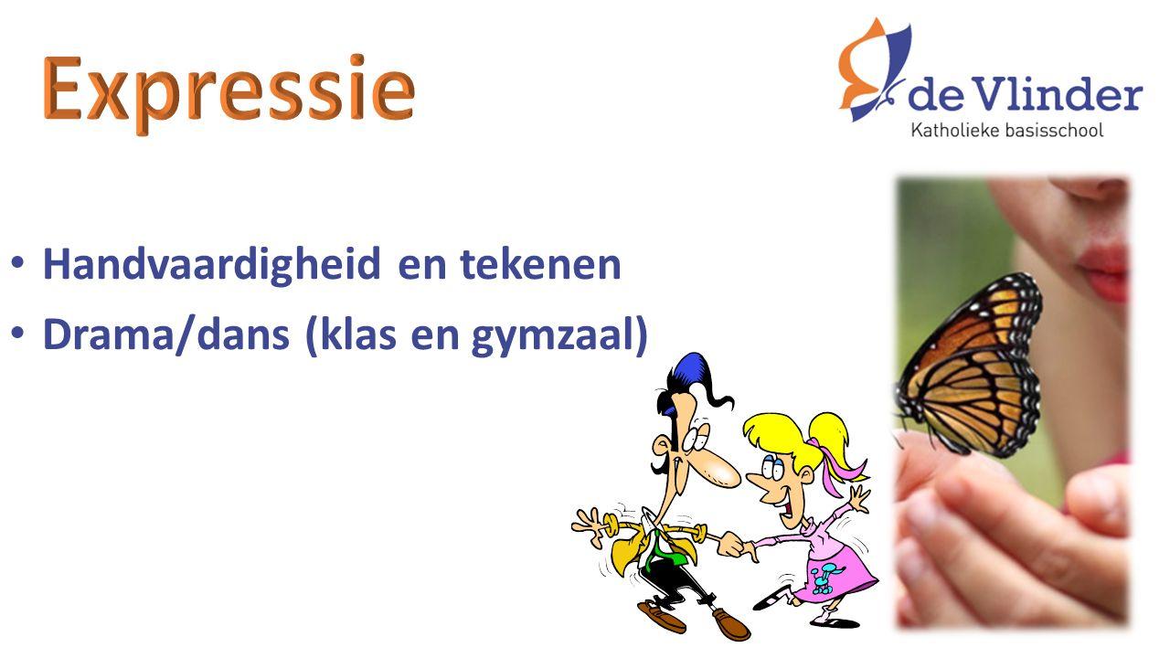 Handvaardigheid en tekenen Drama/dans (klas en gymzaal)