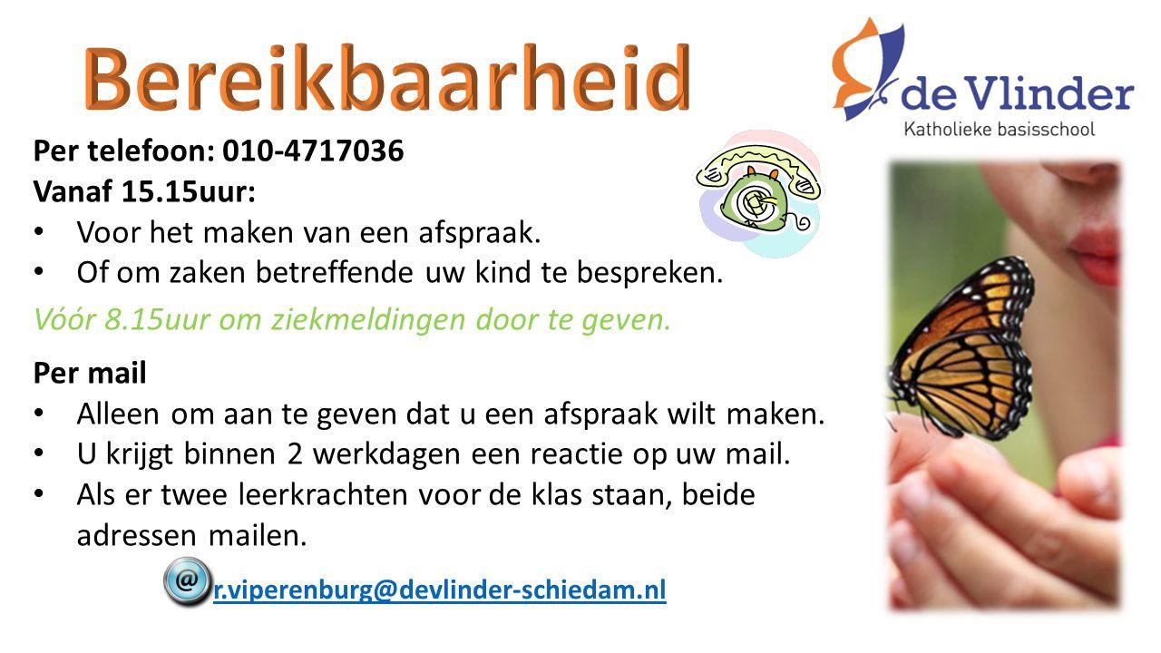 Per telefoon: 010-4717036 Vanaf 15.15uur: Voor het maken van een afspraak.