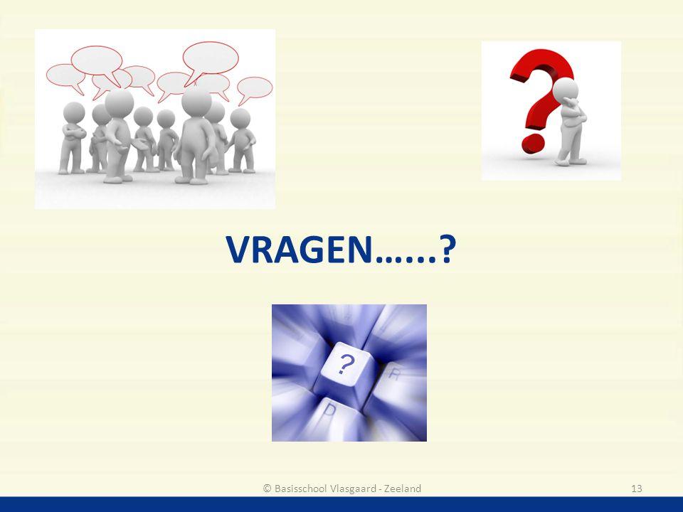 VRAGEN…...? 13© Basisschool Vlasgaard - Zeeland