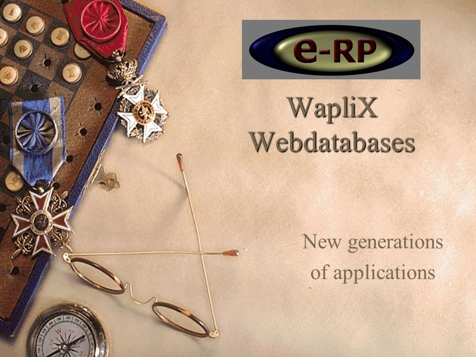 WapliX Webdatabases New generations of applications