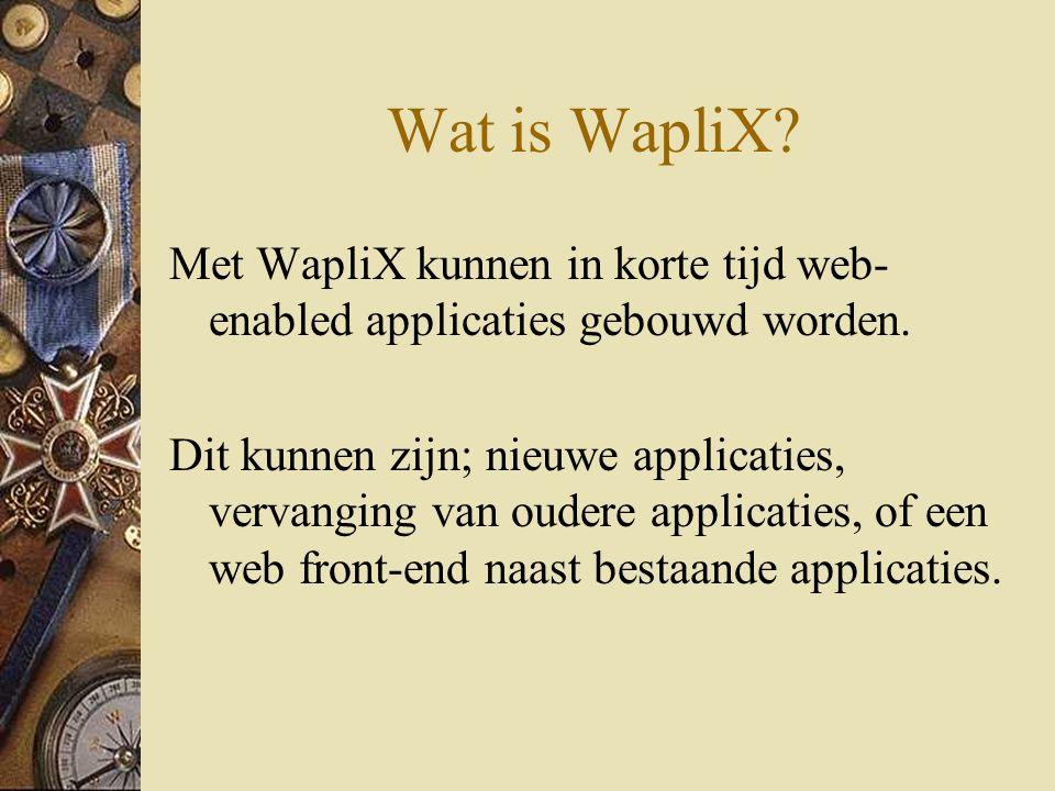 Wat is WapliX.Met WapliX kunnen in korte tijd web- enabled applicaties gebouwd worden.