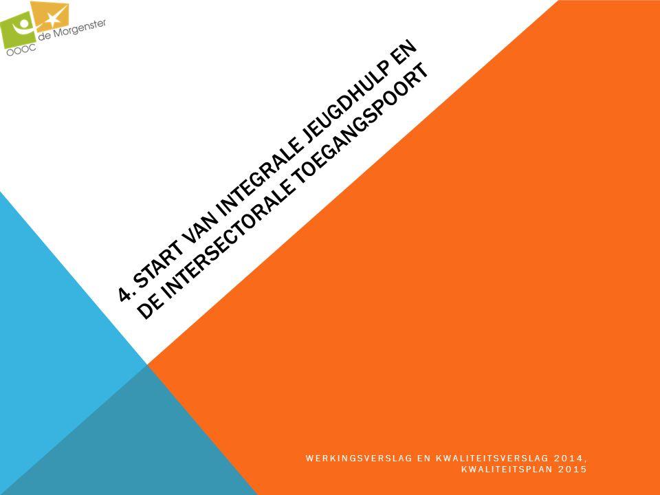 4. START VAN INTEGRALE JEUGDHULP EN DE INTERSECTORALE TOEGANGSPOORT WERKINGSVERSLAG EN KWALITEITSVERSLAG 2014, KWALITEITSPLAN 2015