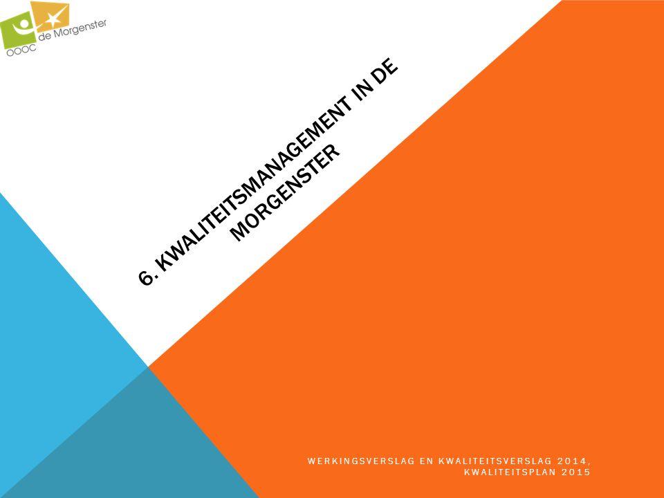 6. KWALITEITSMANAGEMENT IN DE MORGENSTER WERKINGSVERSLAG EN KWALITEITSVERSLAG 2014, KWALITEITSPLAN 2015