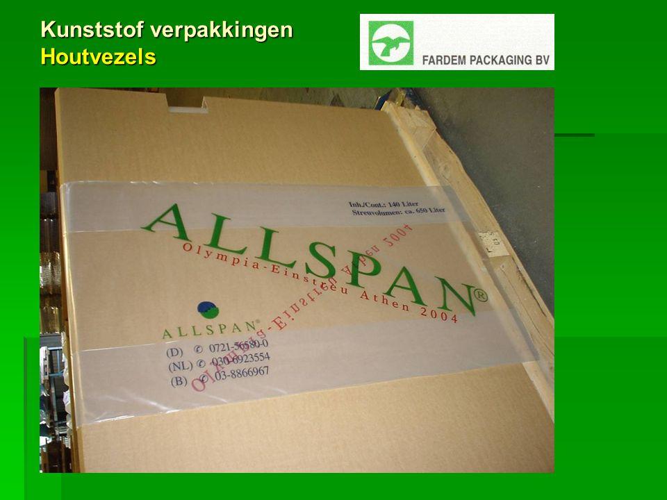 Kunststof verpakkingen Houtvezels