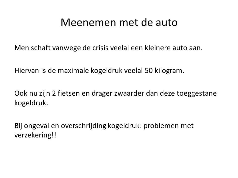 Meenemen met de auto Men schaft vanwege de crisis veelal een kleinere auto aan. Hiervan is de maximale kogeldruk veelal 50 kilogram. Ook nu zijn 2 fie