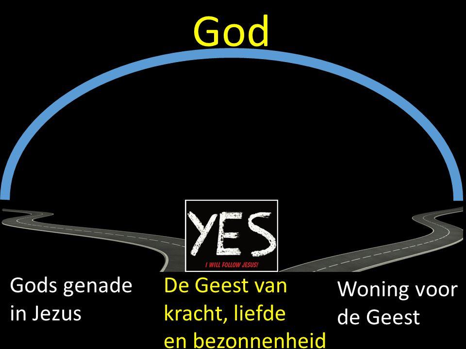 Gods genade in Jezus Woning voor de Geest God De Geest van kracht, liefde en bezonnenheid