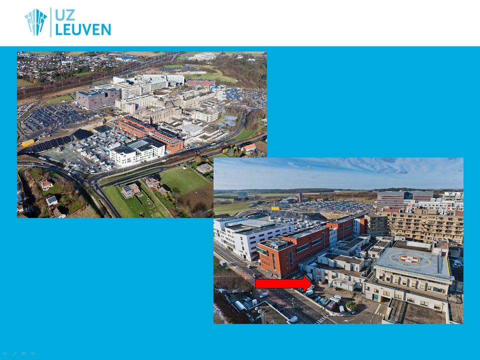 UZ Leuven 1900 Bedden 8 892 personeelsleden 63 885 opnames 672 663 consultaties (2 691/dag) 99 711 daghospitalisaties 69 877 chirurgische ingrepen (45 OKa zalen)