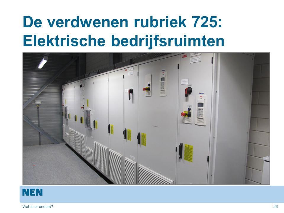 De verdwenen rubriek 725: Elektrische bedrijfsruimten Wat is er anders?26