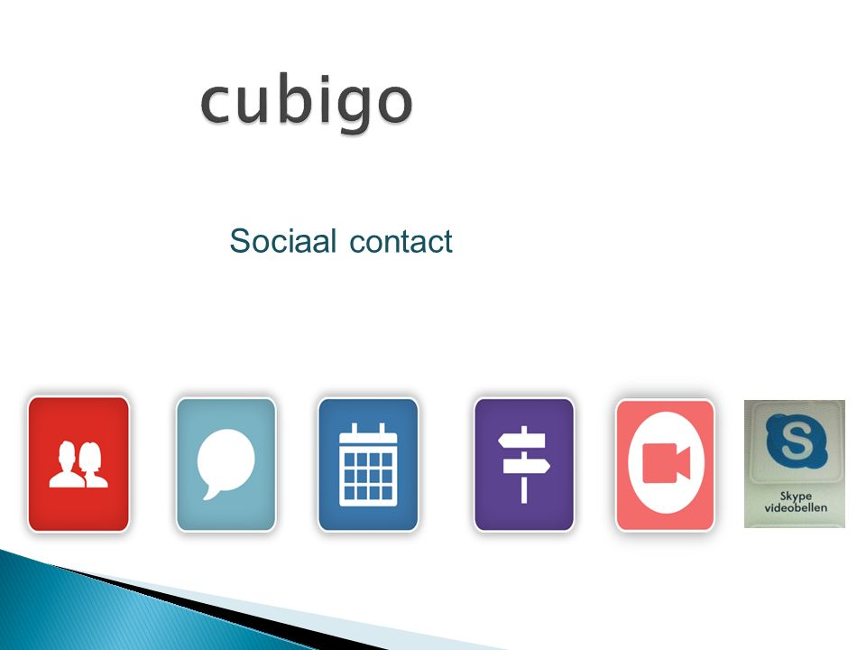 cubigo Sociaal contact