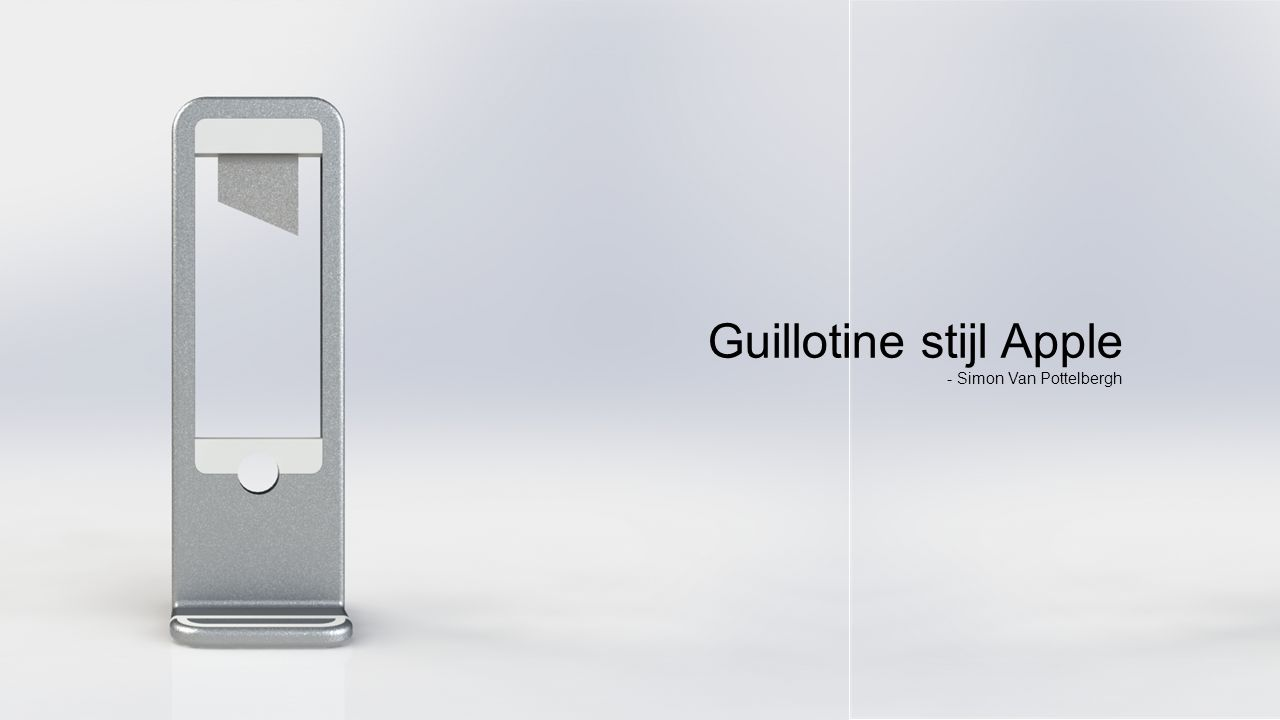 t Guillotine stijl Apple - Simon Van Pottelbergh