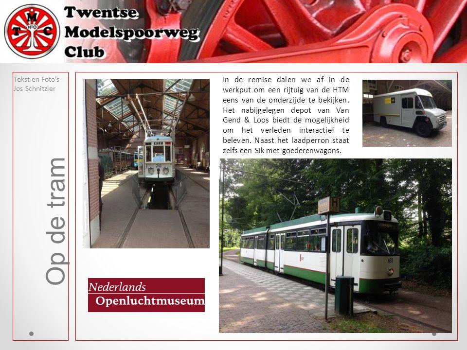 Op de tram In de remise dalen we af in de werkput om een rijtuig van de HTM eens van de onderzijde te bekijken.