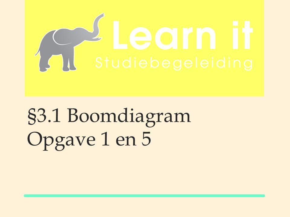 §3.1 Boomdiagram Opgave 1 en 5