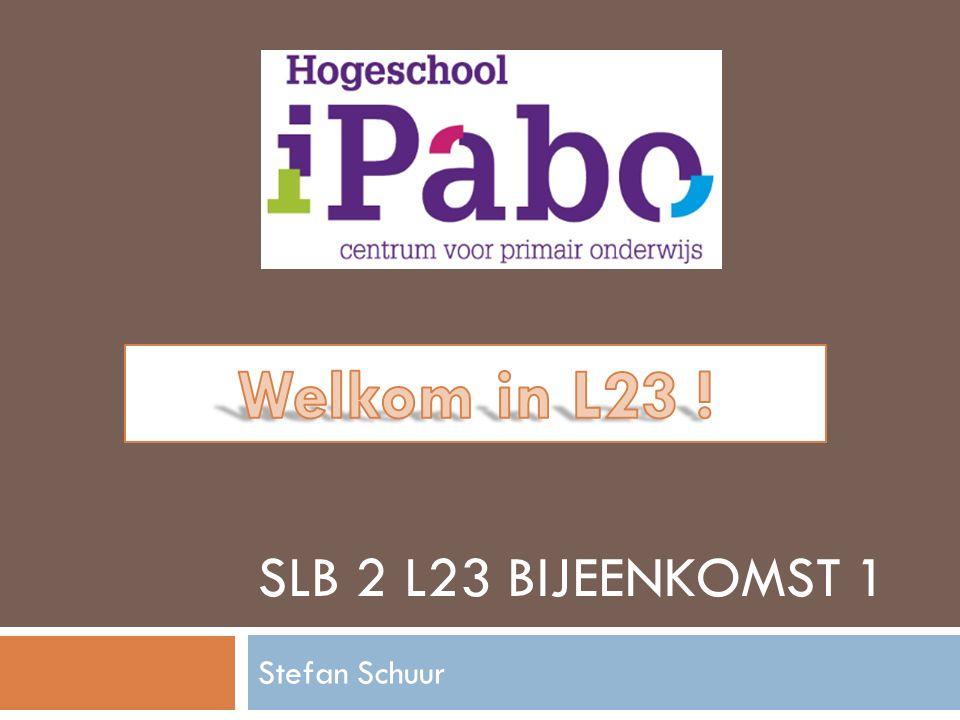 SLB 2 L23 BIJEENKOMST 1 Stefan Schuur