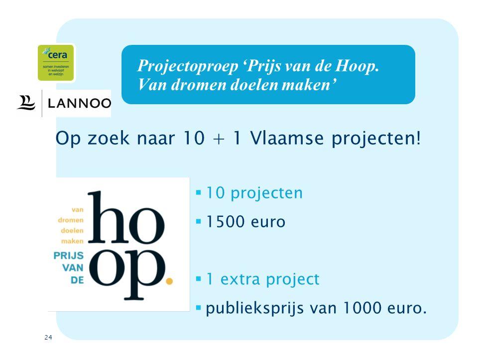 24 Projectoproep 'Prijs van de Hoop.