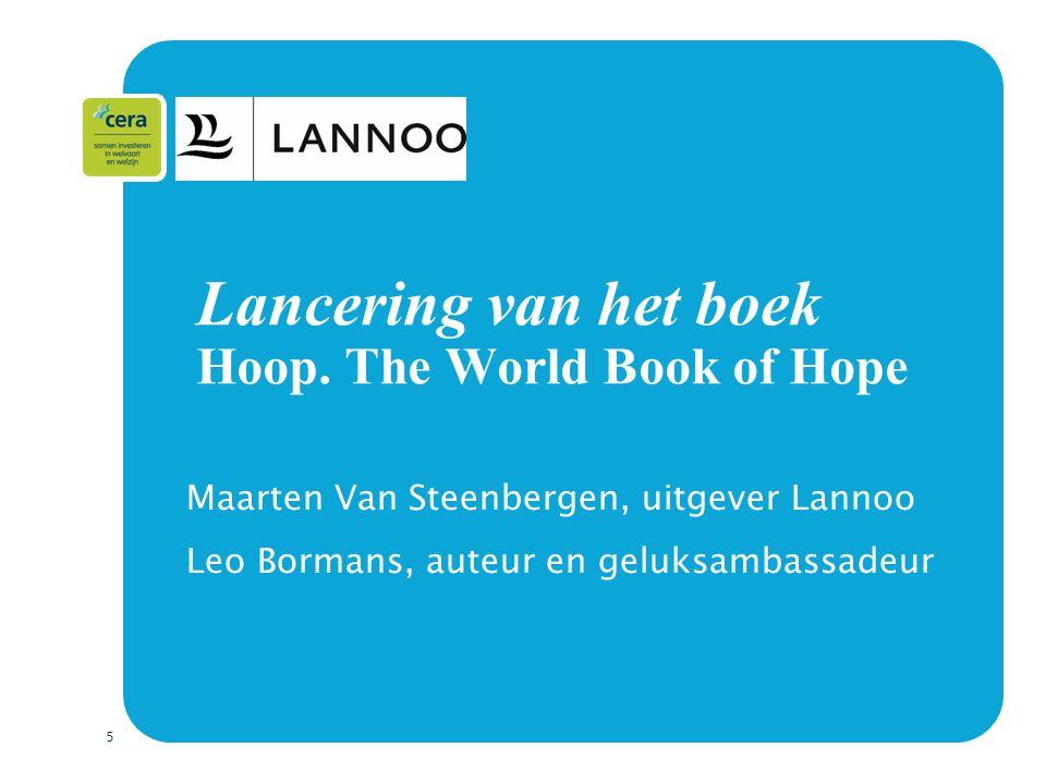 6 Opzet  Derde boek in de internationale succesreeks The World book of…