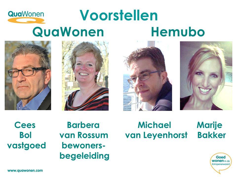 Voorstellen QuaWonen Hemubo Cees Barbera Michael Marije Bol van Rossum van Leyenhorst Bakker vastgoed bewoners- begeleiding