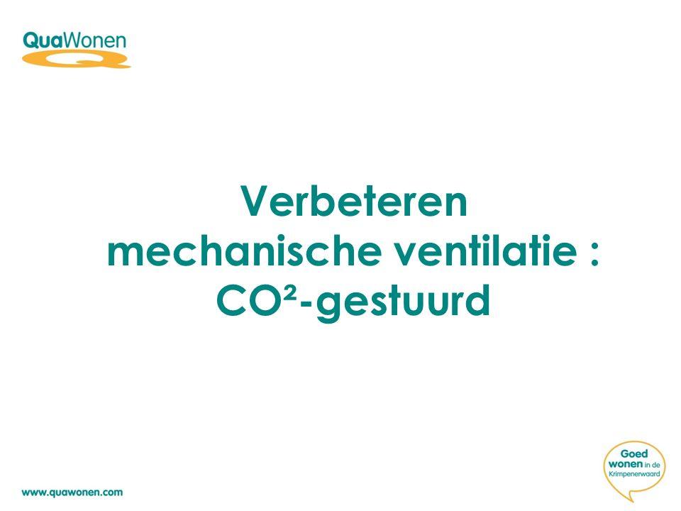 Verbeteren mechanische ventilatie : CO²-gestuurd