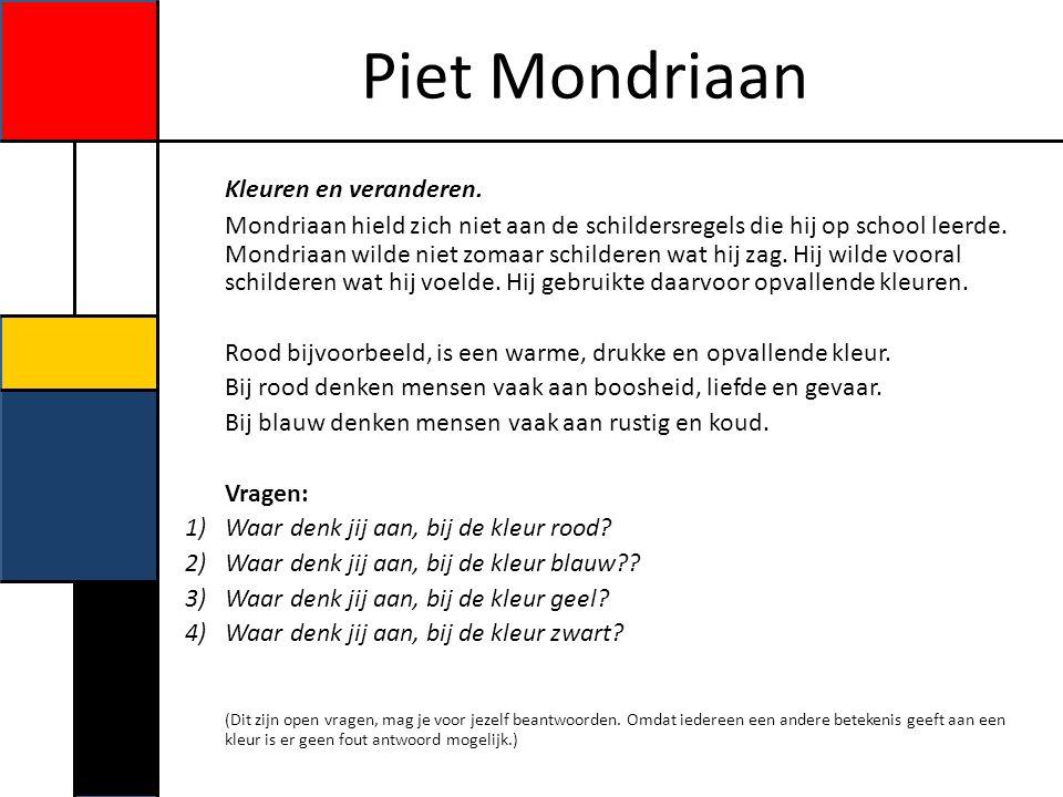 Piet Mondriaan Vormen veranderen.