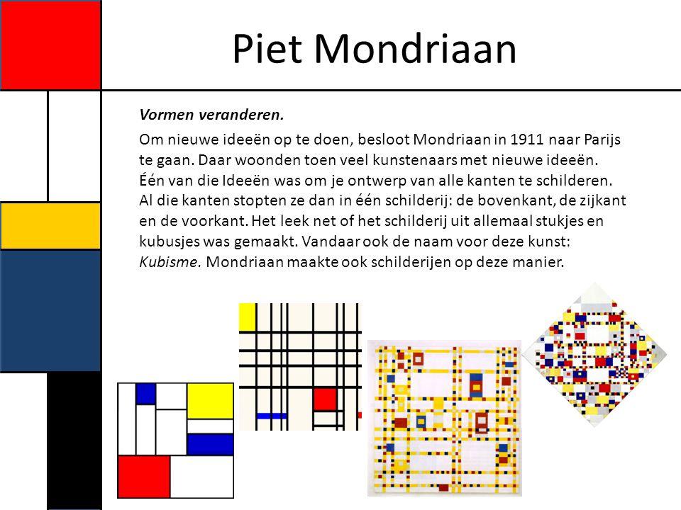 Piet Mondriaan Oorlog Toen Piet Mondriaan in 1914 zijn zieke vader bezocht, begon de eerste wereldoorlog.