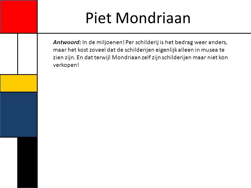 Piet Mondriaan Mondriaans atelier in Parijs.