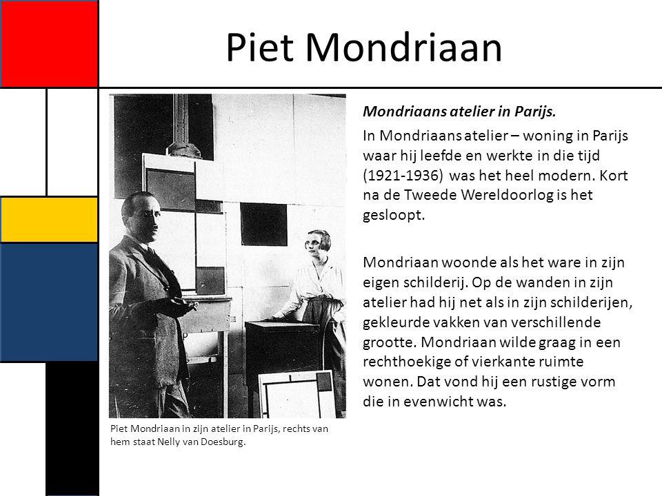 Piet Mondriaan Opdracht Nu je heel veel gelezen hebt over Piet Mondriaan, hebben we een aantal opdrachten voor jou.