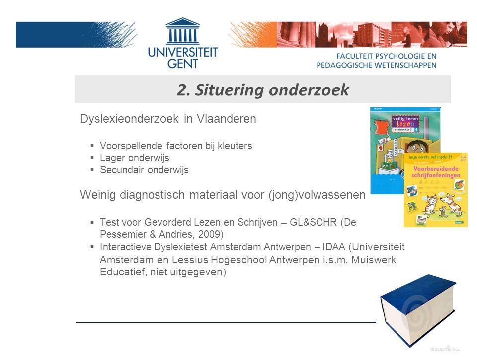 Betere doorstroming van studenten met dyslexie Geoptimaliseerd zorgkader Oprichting van begeleidingsdiensten Diversiteitbeleid (2005) o.a. voor studen