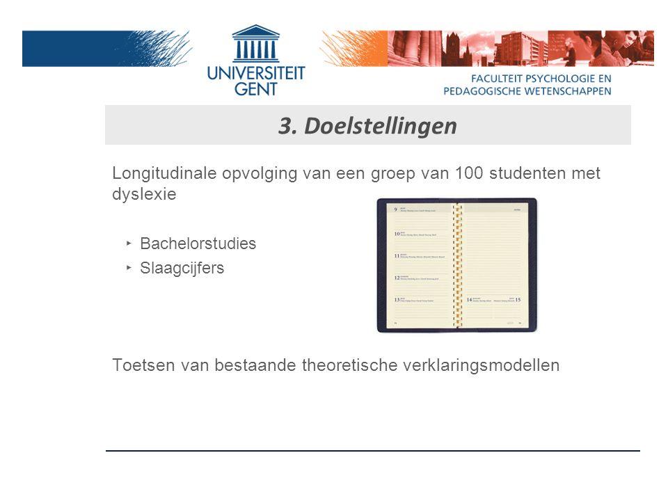 3. Doelstellingen Wetenschappelijk referentiekader voor de diagnostiek en de begeleiding van studenten met dyslexie in het hoger onderwijs ‣ Inventari
