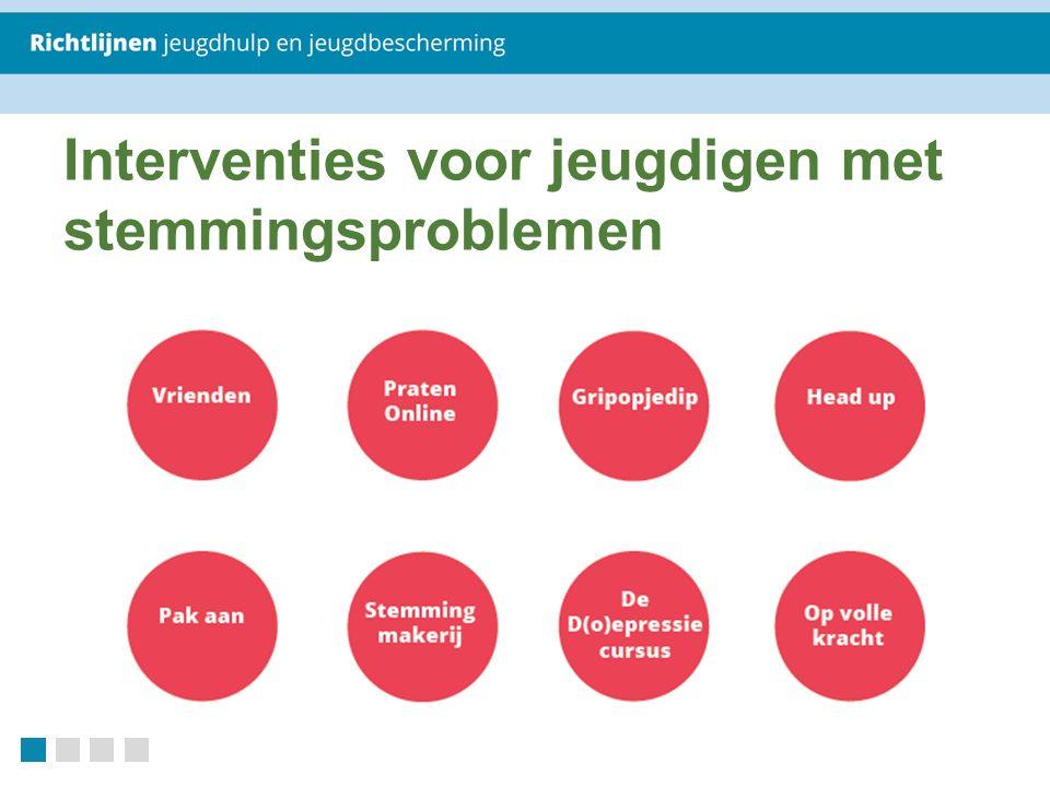 Interventies voor jeugdigen met stemmingsproblemen