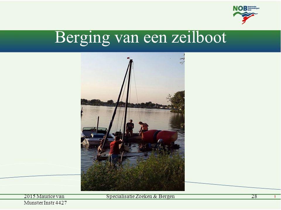 Berging van een zeilboot 2015 Maurice van Munster Instr 4427 Specialisatie Zoeken & Bergen28