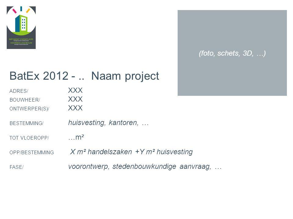 PROJECTNR. + NAAM (Korte beschrijving, foto's …)