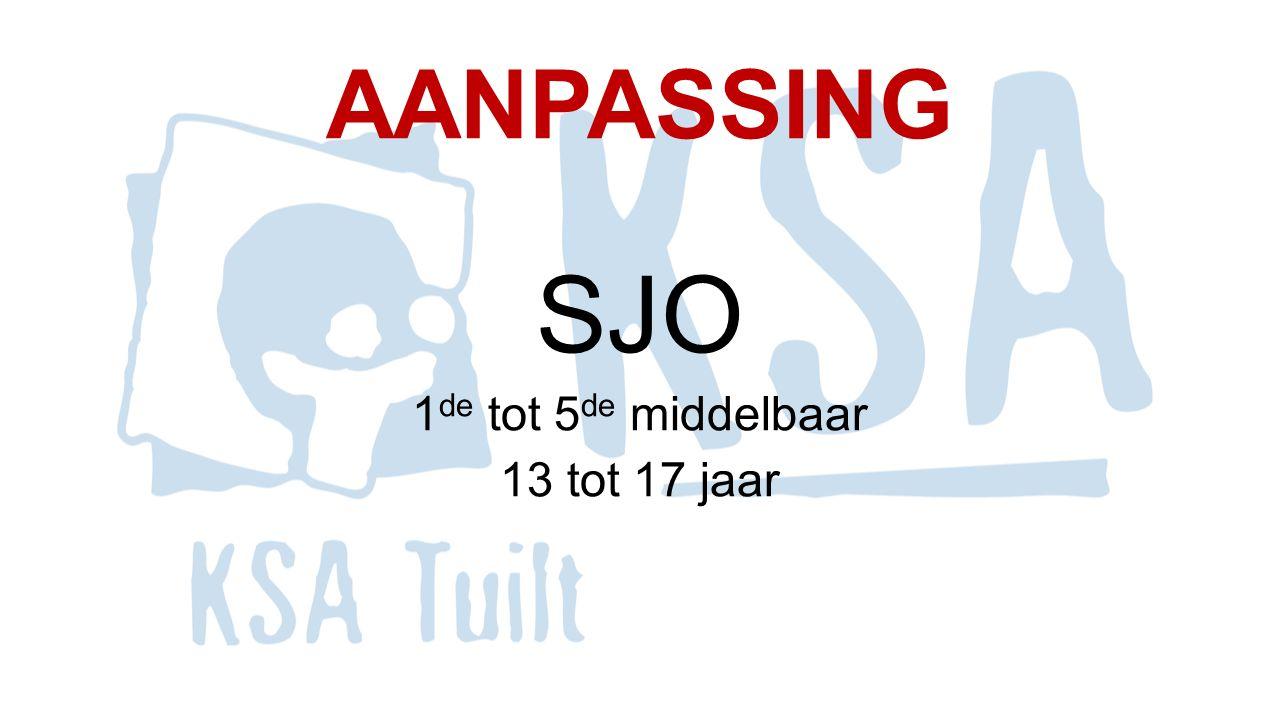 AANPASSING SJO 1 de tot 5 de middelbaar 13 tot 17 jaar
