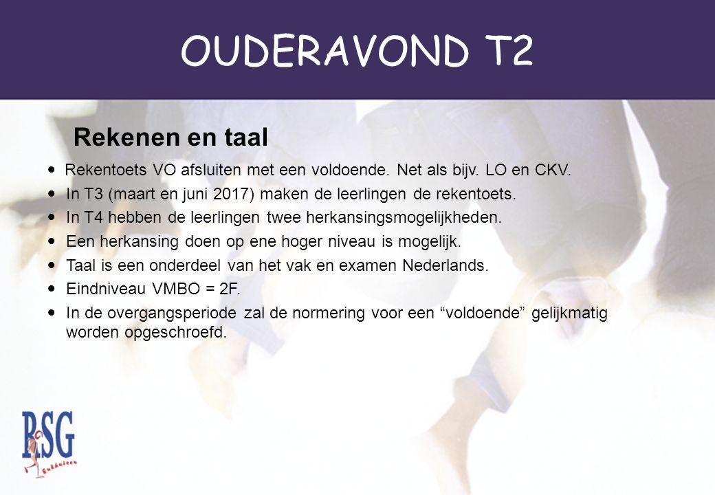 OUDERAVOND T2 Rekentoets VO afsluiten met een voldoende.