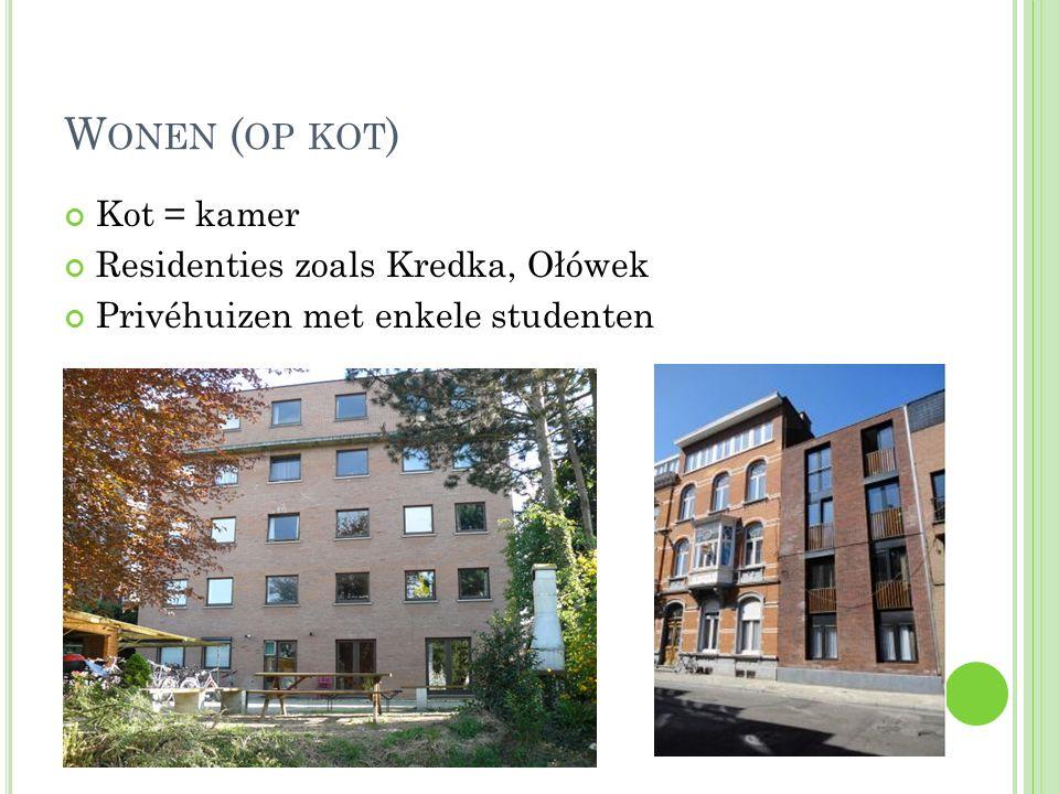 Standaard : bed, bureau en kast Zelf inrichten Meestal gedeelde keuken en badkamer 250-300 euro/maand